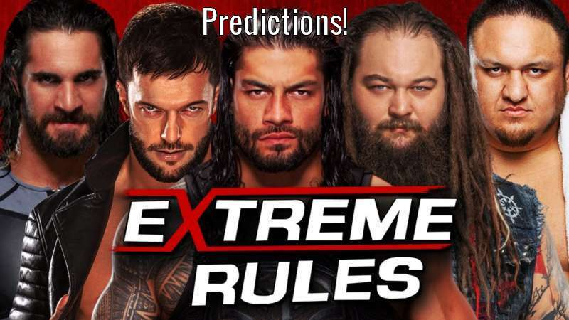WWE Extreme Rules Predictions!