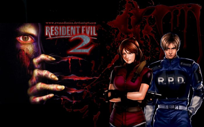 resident_evil_2_claire_and_leon_by_evanodinson-d6uztty